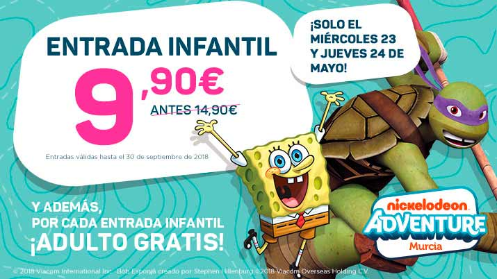 Promoción Flash en Nickelodeon Adventure Murcia