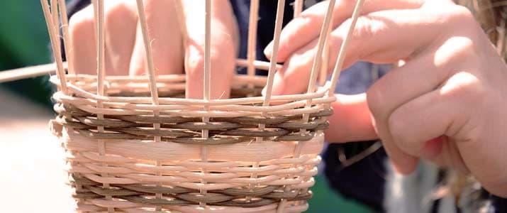 talleres infantiles artesania cesteria
