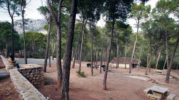 Áreas recreativas en Sierra Espuña