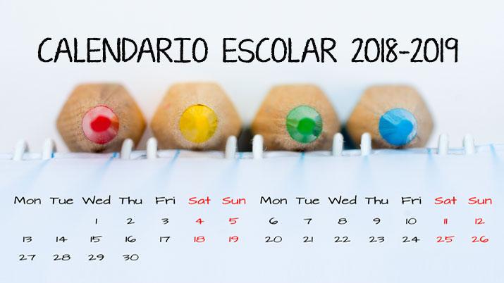 Calendario Escolar Murcia 2019.Calendario Escolar 2018 2019