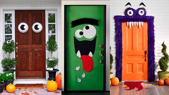 Las mejores ideas para decorar en halloween for Puertas de halloween