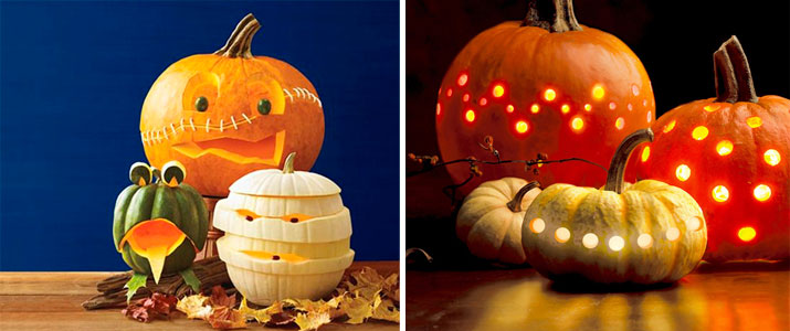 Calabazas originales para nios en Halloween