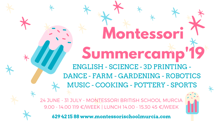 Summer Camp Montessori 2019