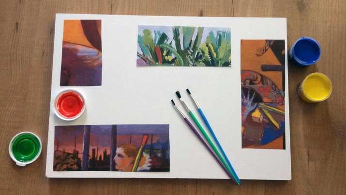 Taller infantil pintura y collage - Donde estudiar pintura ...