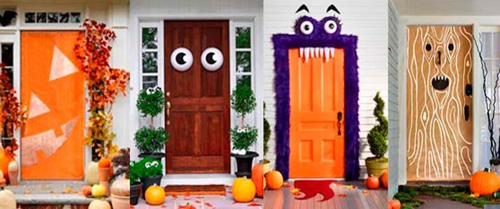 Puertas terroríficas en Halloween