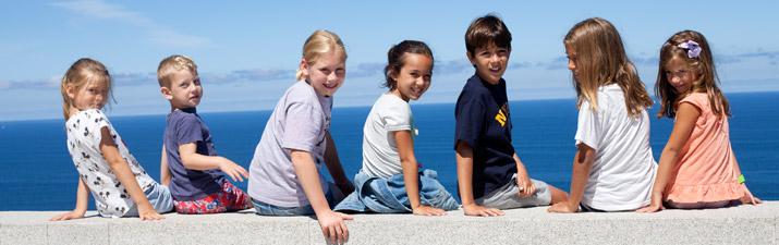Al aire libre con niños